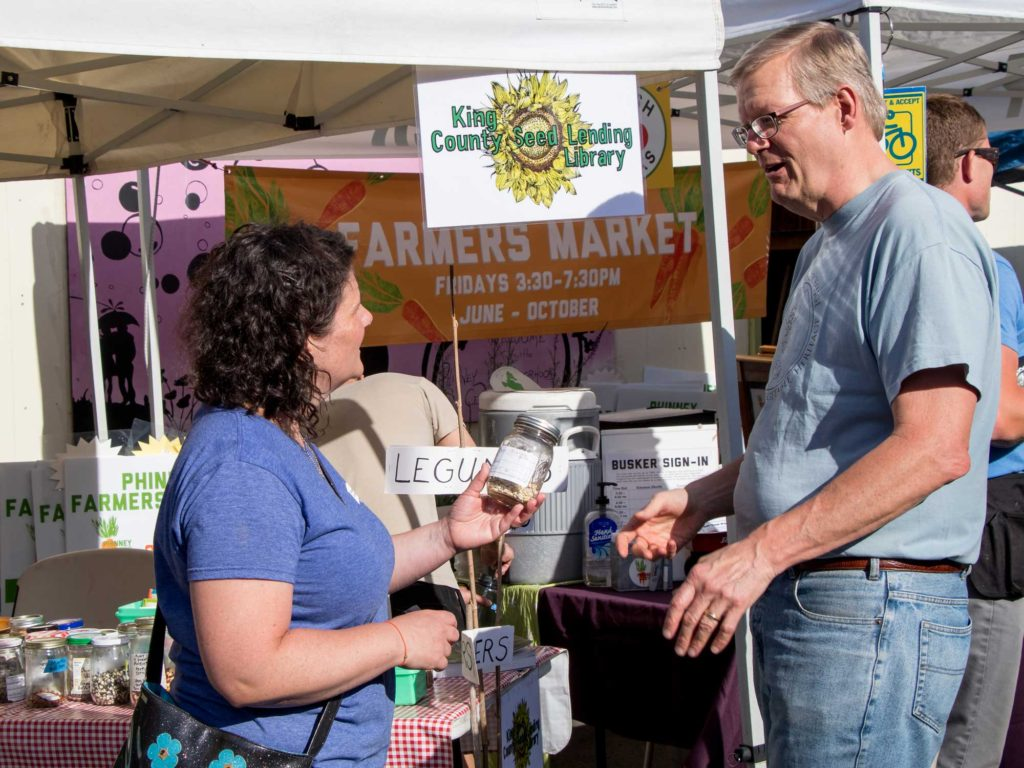 Seed sharing at the farmers market